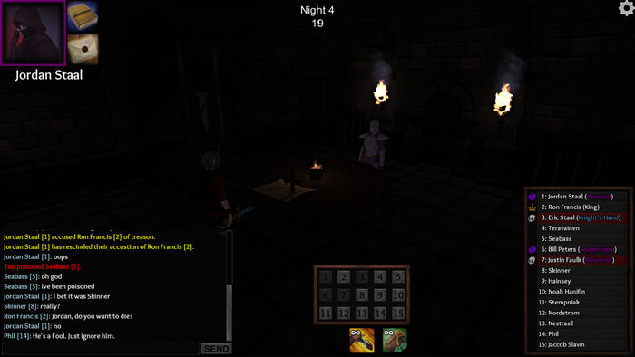 Early UI (Black Rose Secret Meeting - Night)