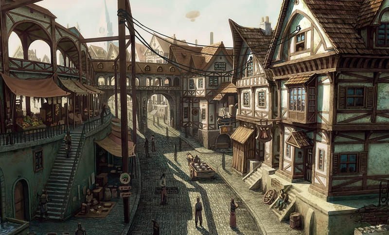 Paintings Cityscapes Buildings Artwork Medieval 1730x1050 Wallpaper Wallmay 66
