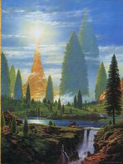 Ted Nasmith - Illuin Lamp of the Valar-1-