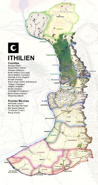 Mappa dell'Ithilien