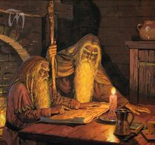 Gandalf e Thorin a Brea by Ted Nasmith