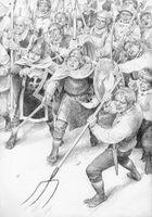 Merry e Pipino guidano gli Hobbit by Denis Gordeev