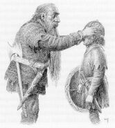 Thorin and Bilbo by Alan Lee