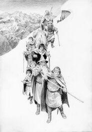 La Compagnia sul Caradhras by Denis Gordeev