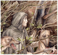 Tuor escapes the easterlings by Peter Xavier Price