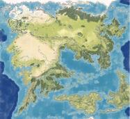 Terra di Mezzo mappa muta