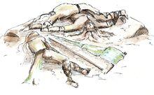 Morte di Denethor su Amon Ereb