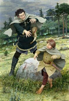 Boromir aggredisce Frodo by Denis Gordeev