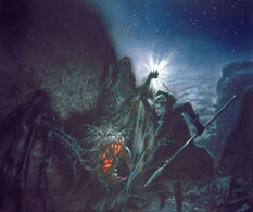 Morgoth vs Ungoliant by Ted Nasmith