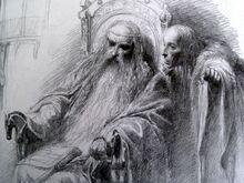 Théoden e Grima