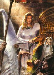Gandalf affronta Grima