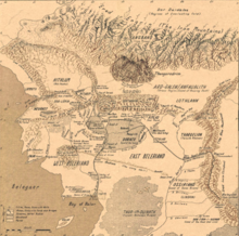 Mappa del Beleriand from Atlas of The Middle Earth