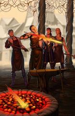 Melkor insegna a forgiare armi ai Noldor by ivanalekseich-d8kmglg