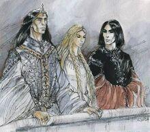 Turgon, Idril and Maeglin