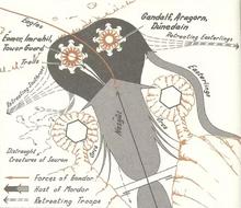 Mappa della Battaglia del Morannon