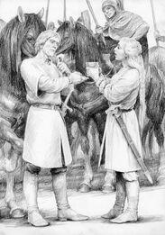 Aragorn e Éowyn by Denis Gordeev