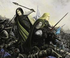 Mablung e Beleg nella Nirnaeth Arnoediad