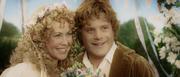 Sam and Rosie at their wedding