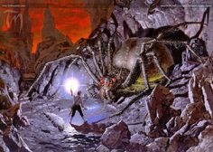 Shelob's Retreat by Ted Nasmith