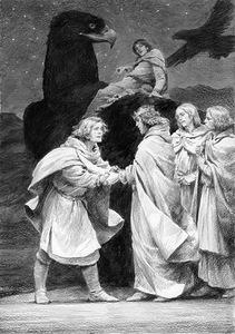Hurin e Huor lasciano Gondolin