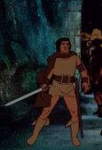 Aragorn e Andúril nel film di Bakshi