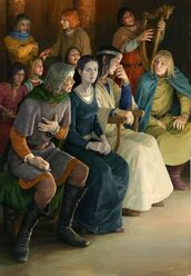 Aragorn Elrond e Arwen by Denis Gordeev
