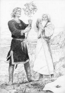 Aragorn e Gandalf trovano l'albero bianco by Denis Gordeev