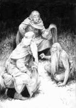 Théoden, Éomer e Ghân-buri-Ghân by Denis Gordeev