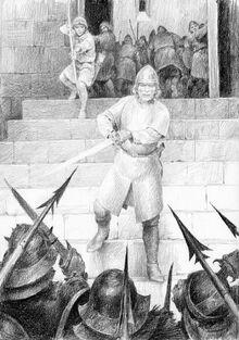 Aragorn al Fosso di Helm by Denis Gordeev