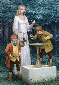 Frodo e lo Specchio di Galadriel by Denis Gordeev