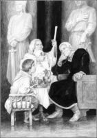 Gandalf, Pipino e Denethor by Denis Gordeev
