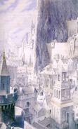 Minas Tirith illustrata da Alan Lee