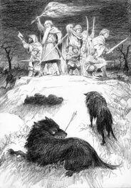 Gandalf respinge i Mannari by Dens Gordeev