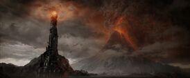 Barad-dûr nel film Il Signore degli Anelli