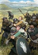 Pipino e Merry rapiti dagli Uruk by Denis Gordeev
