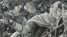 Isildur con Elendur