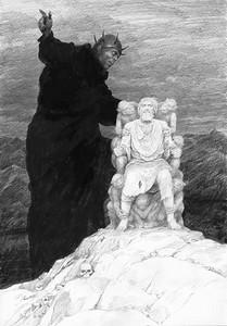 Morgoth maledici Húrin by Denis Gordeev