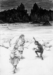 Frodo, Sam e Gollum al Nero Cancello by Denis Gordeev