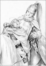 Merry e Éowyn by Denis Gordeev