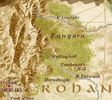 Mappa della Foresta di Fangorn