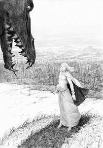 Glaurung e Niënor by Denis Gordeev