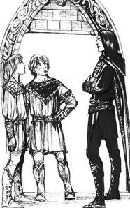 Maeglin con Hurin e Huor