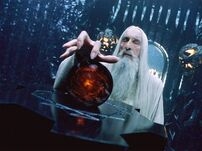 Saruman with Orthanc's Palanti