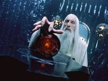 Saruman with Orthanc's Palanti
