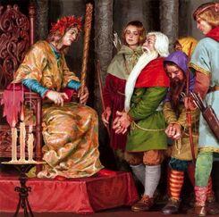 Thranduil interroga i Nani by Denis Gordeev