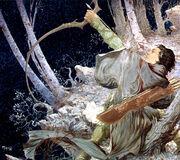 Legolas abbatte un Nazgûl