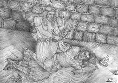 Tulkas defeats morgoth by lomehir
