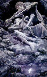 Gollum vs Frodo and Sam by Alan Lee