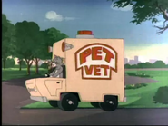 The Hypochondriac Lion - Tom and Jerry riding on the Pet Vet truck again