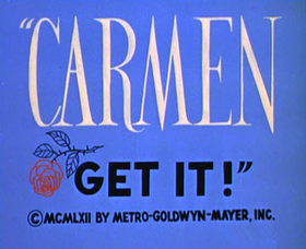 Carmen Get It! title card